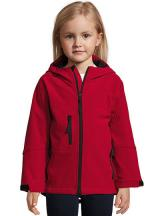 Kids Hooded Softshell Jacke Replay
